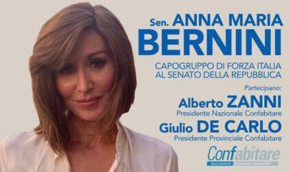 Alberto Zanni, presidente Confabitare, partecipa all'incontro con la Sen. Anna Maria Bernini, sabato 12 settembre ad Ancona