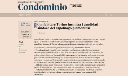 Confabitare incontra i candidati Sindaci a Torino