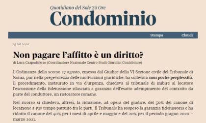 Posizione chiara del Centro studi di Confabitare attraverso il suo coordinatore nazionale Avv. Luca Capodiferro
