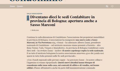 Diventano dieci le sedi Confabitare in provincia di Bologna: apertura anche a Sasso Marconi